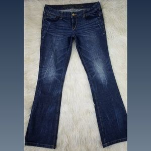 Express Dark Wash Bootcut Lace Jeans Size 8